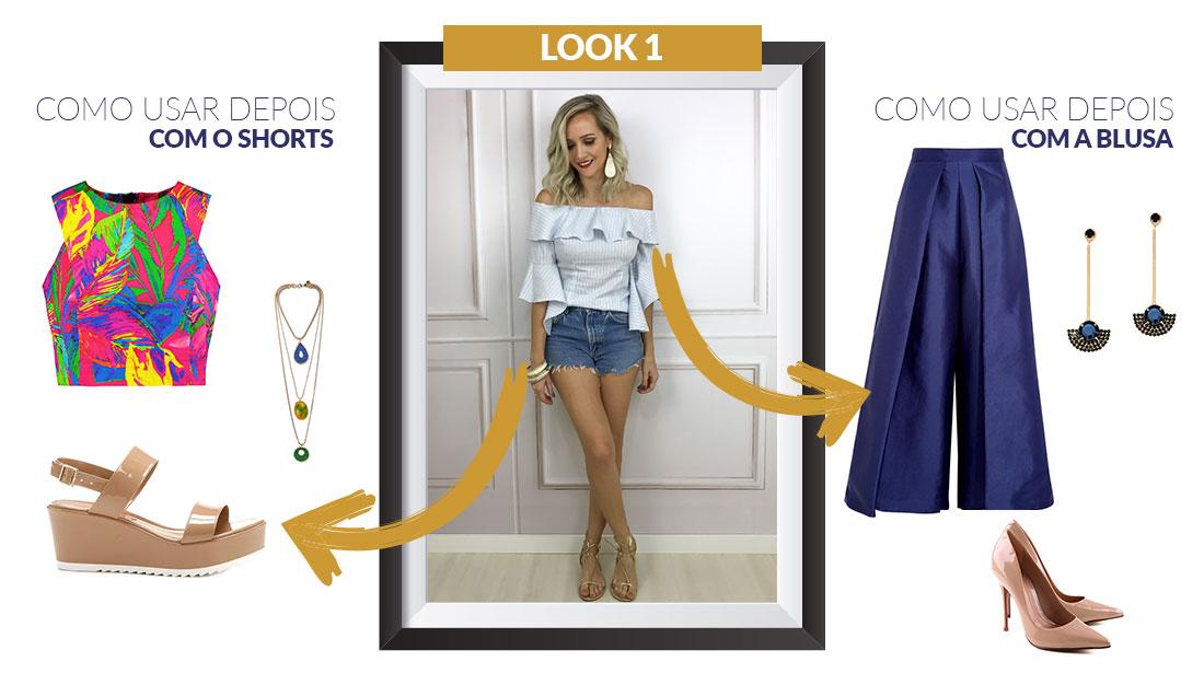 Neste look usei: Blusa Ave Rara | Shorts Brechó EUA | Rasteirinha Raphaella Booz