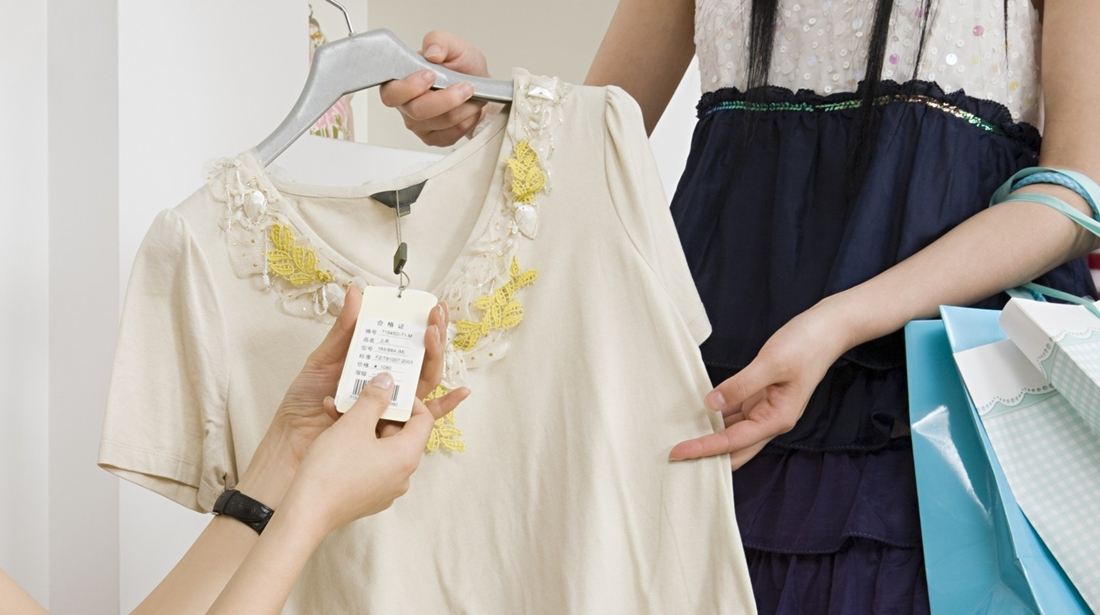 Women clothes shopping