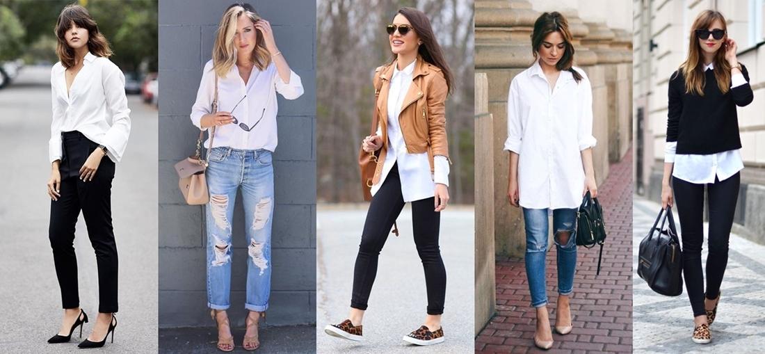 d9ce511e7 Abandone a ideia de que esta peça serve apenas para montar looks sociais. A  camisa branca se transformou em um item indispensável para o seu dia a dia  ...